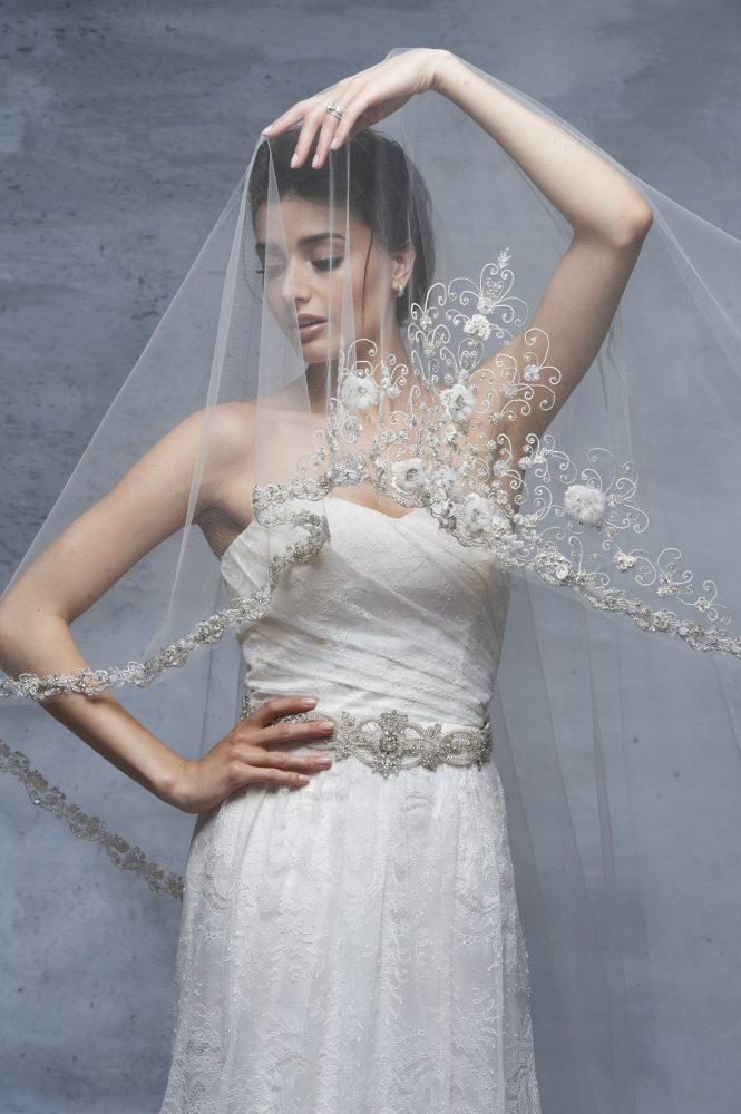 bride wearing Blossom Veils