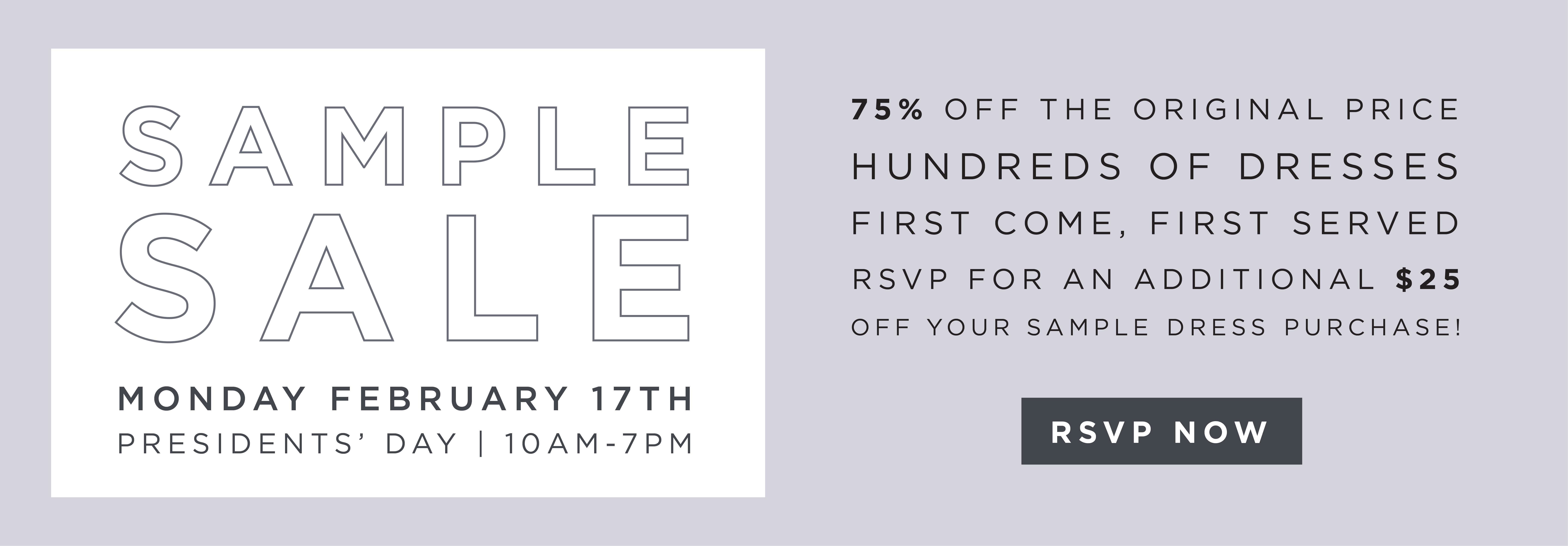 February Sample Sale