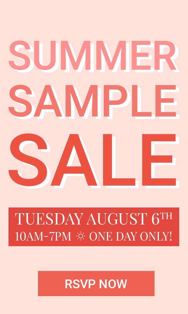 Summer 2019 Sample Sale Banner