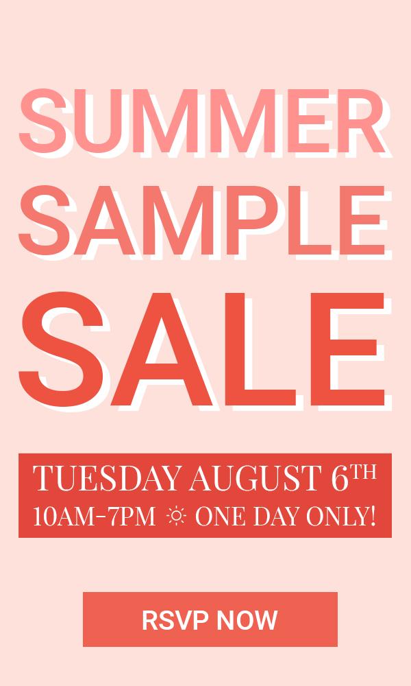 Summer 2019 Sample Sale Banner
