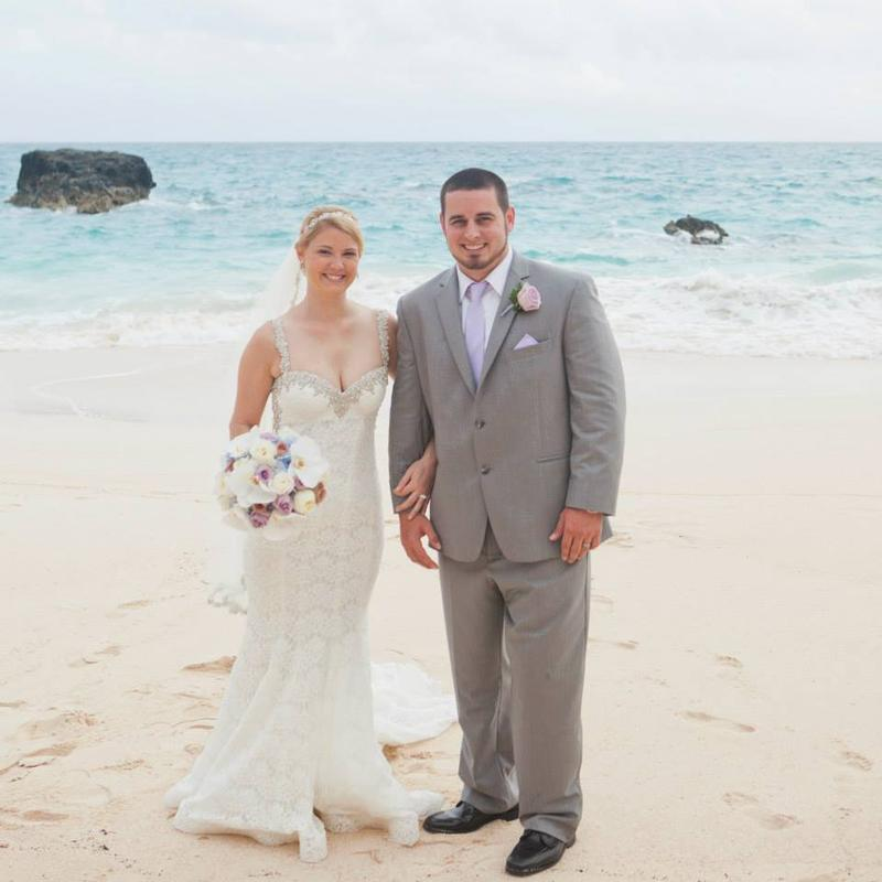 Alicia and Sean bride and groom