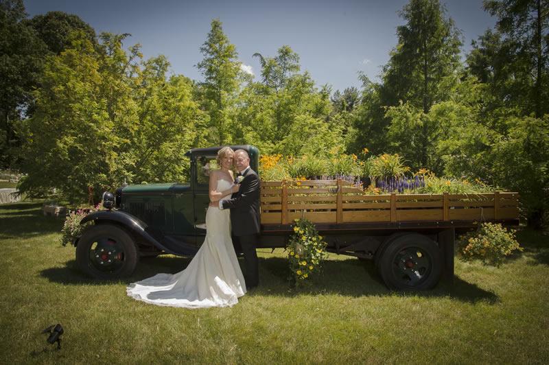 Elaine and Steve bride and groom