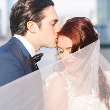 Heather and Derek bride and groom