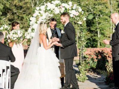 Katie and Matt bride and groom