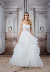 Modern A-Line Wedding Dress by Love by Pnina Tornai - Image 1