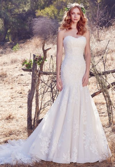 Classic Fit And Flare Wedding Dress by Maggie Sottero
