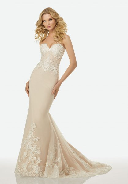 Romantic A-line Wedding Dress by Randy Fenoli - Image 4