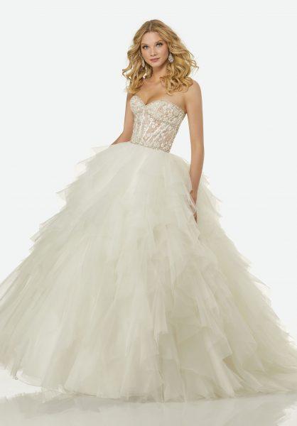 Trendy Ball Gown Wedding Dress by Randy Fenoli - Image 1