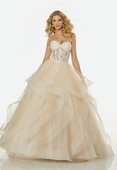 Modern Ball Gown Wedding Dress by Randy Fenoli