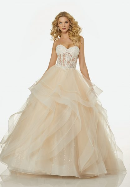 Modern Ball Gown Wedding Dress by Randy Fenoli - Image 1