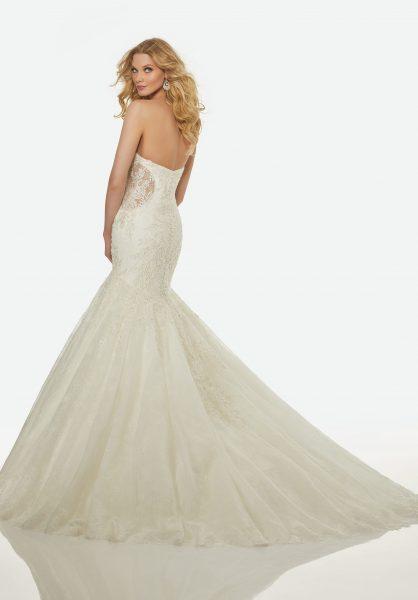 Modern Mermaid Wedding Dress by Randy Fenoli - Image 2
