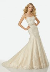 Simple Sheath Wedding Dress by Randy Fenoli - Image 1