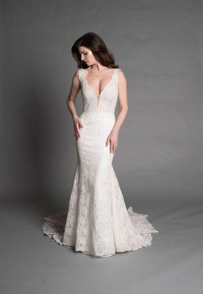 Simple Sheath Wedding Dress by Pnina Tornai