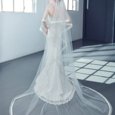 Cathedral Bridal Veil in Tulle by Peter Langner Accessories