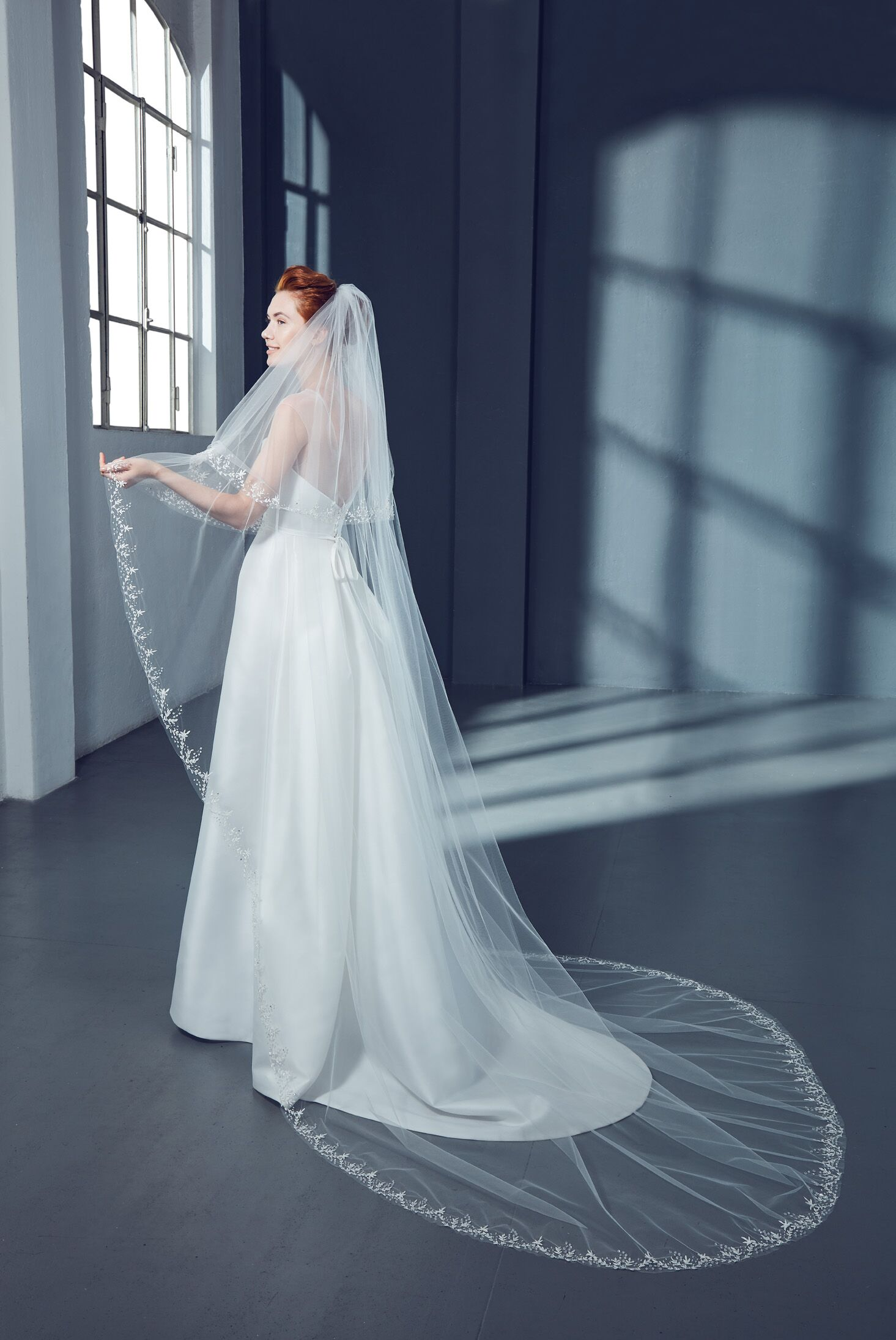 Cathedral Floral Bridal Veil in Tulle | Kleinfeld Bridal