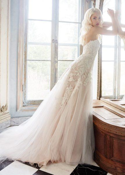 A Line Wedding Dress By Alvina Valenta Image 1
