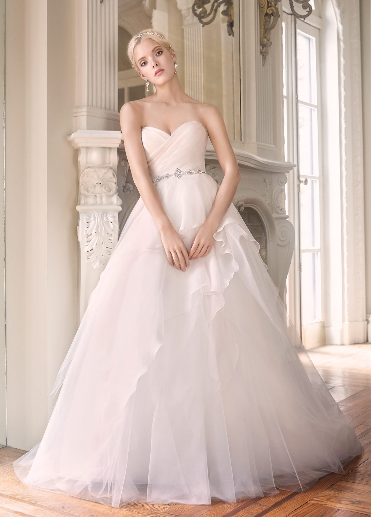 Ball Gown Wedding Dress By Alvina Valenta Image 1 Zoomed In