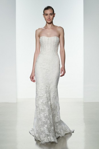 Sheath Wedding Dress by Amsale - Image 1