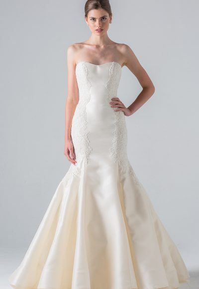 Classic Fit And Flare Wedding Dress by Anne Barge