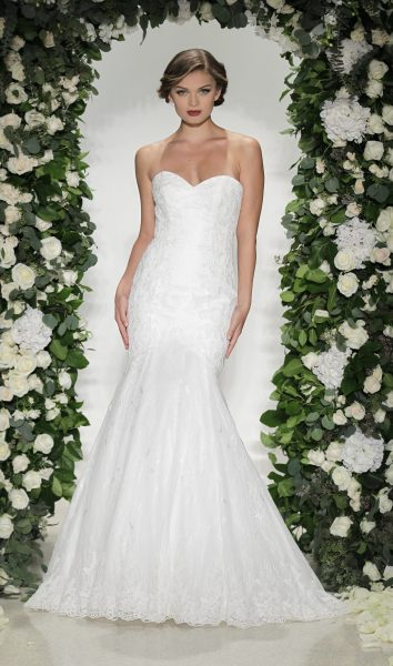 Classic Fit And Flare Wedding Dress by Anne Barge - Image 1