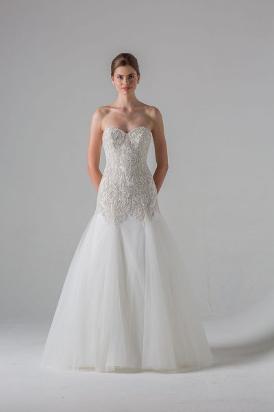 Fit And Flare Wedding Dress by Anne Barge - Image 1