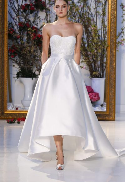 Modern A-line Wedding Dress by Anne Barge