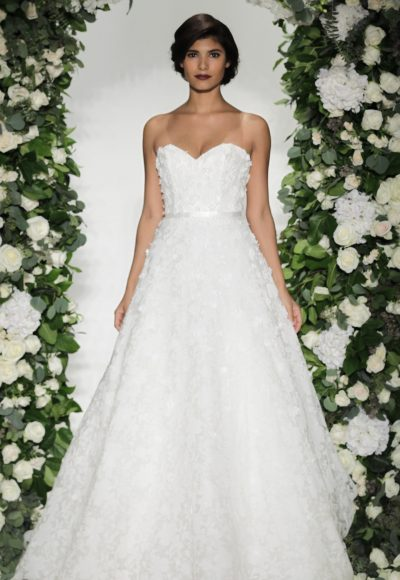 Romantic Ball Gown Wedding Dress by Anne Barge