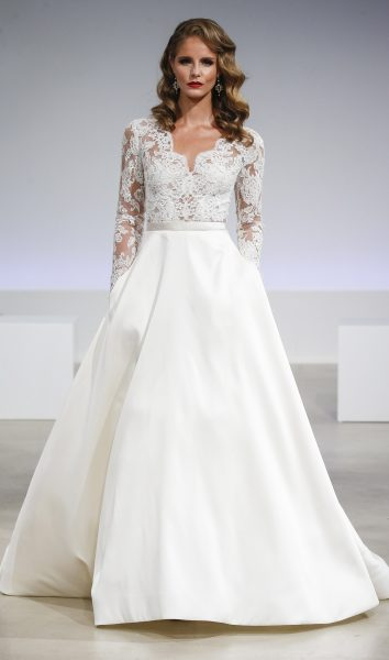 Romantic A Line Wedding Dress