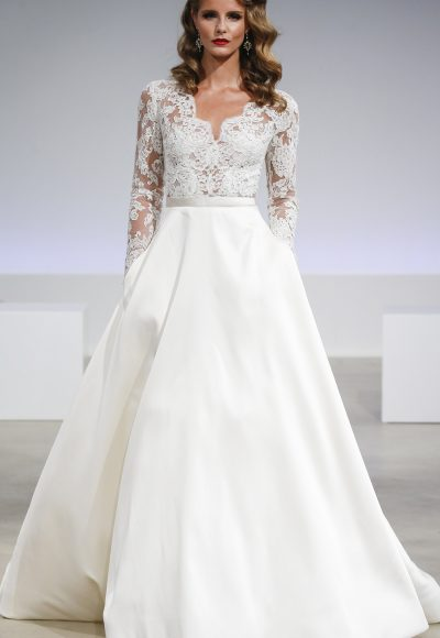 Romantic A-line Wedding Dress by Anne Barge
