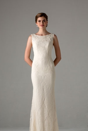 Sheath Wedding Dress by Anne Barge - Image 1