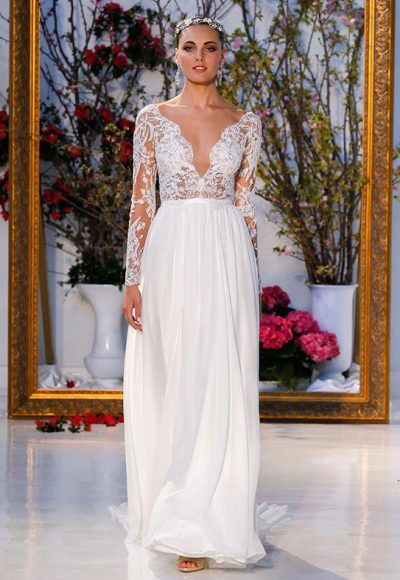 Sheath Wedding Dress by Anne Barge