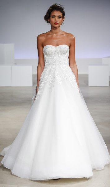 Simple ball gown wedding dress kleinfeld bridal a line strapless lace wedding dress junglespirit Image collections