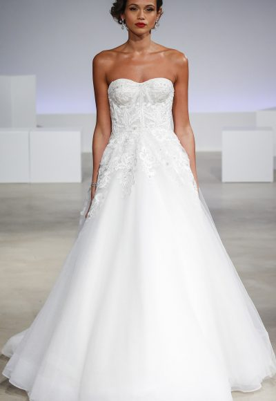 Simple Ball Gown Wedding Dress by Anne Barge