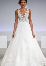 Simple A-line Wedding Dress by Anne Barge - Image 1