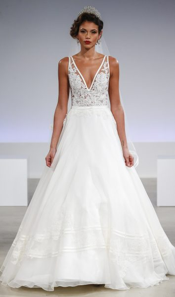 Simple A Line Wedding Dress By Anne Barge Image 1