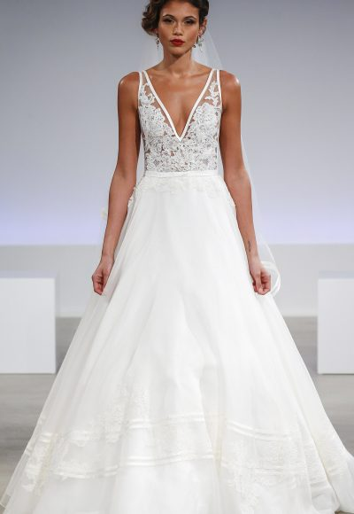 Simple A-line Wedding Dress by Anne Barge