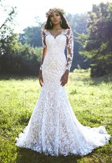 Bohemian Fit And Flare Wedding Dress by Ashley & Justin - Image 1