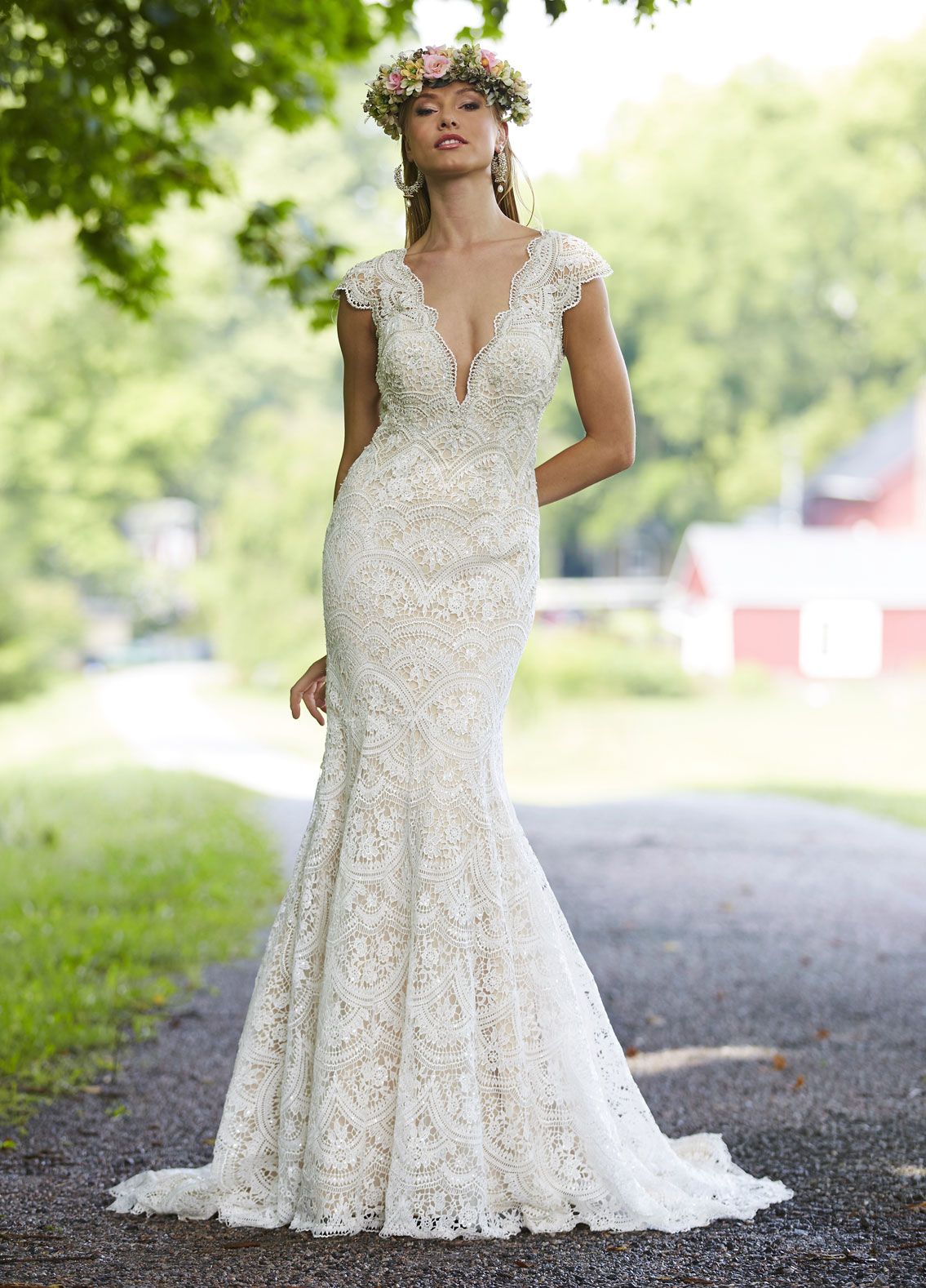 Bohemian Fit And Flare Wedding Dress | Kleinfeld Bridal