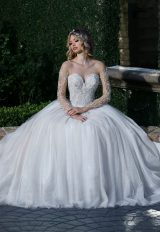 Classic Fit And Flare Wedding Dress by Ashley & Justin - Image 1