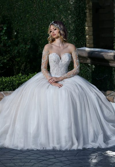 Classic Fit And Flare Wedding Dress by Ashley & Justin