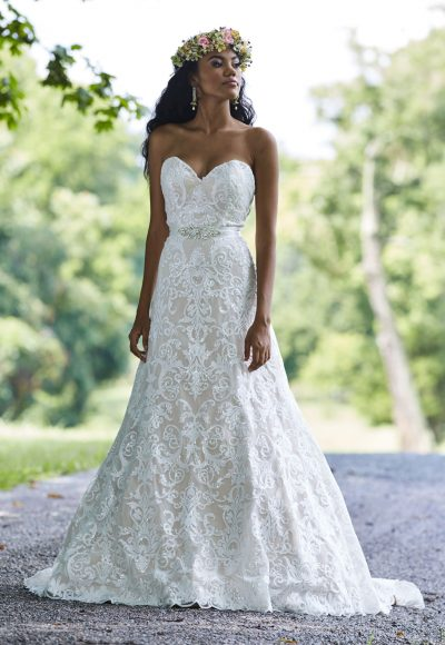 Modern A-line Wedding Dress by Ashley & Justin