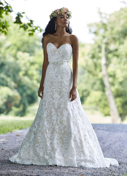 Modern A Line Wedding Dress By Ashley Justin Image 1