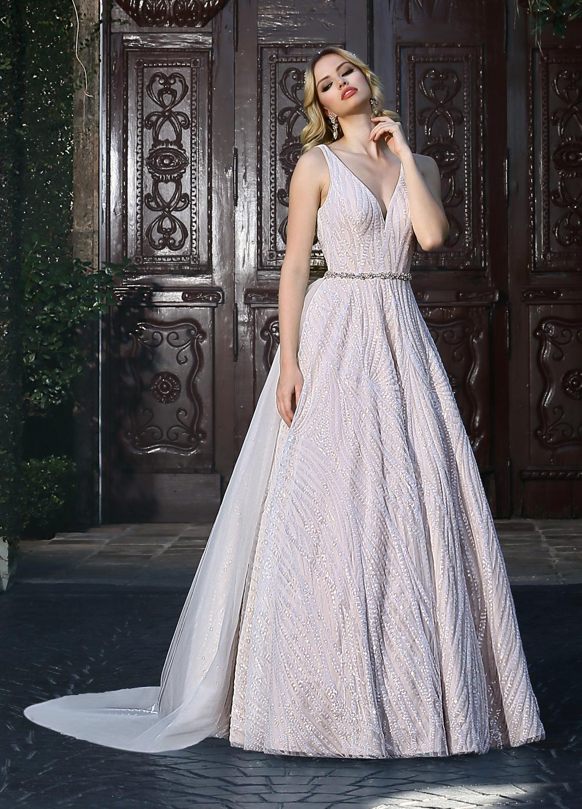 Modern A Line Wedding Dress By Ashley Justin
