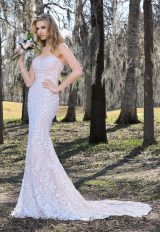 Modern Fit And Flare Wedding Dress by Ashley & Justin - Image 1