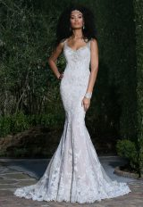 Romantic Fit And Flare Wedding Dress by Ashley & Justin - Image 1