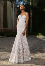 Trendy Fit And Flare Wedding Dress by Ashley & Justin - Image 1