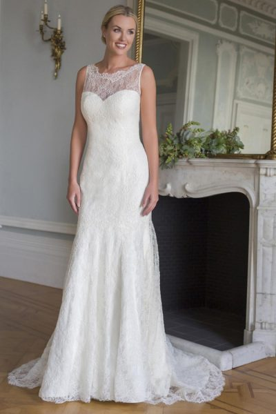 Classic Sheath Wedding Dress - Image 1