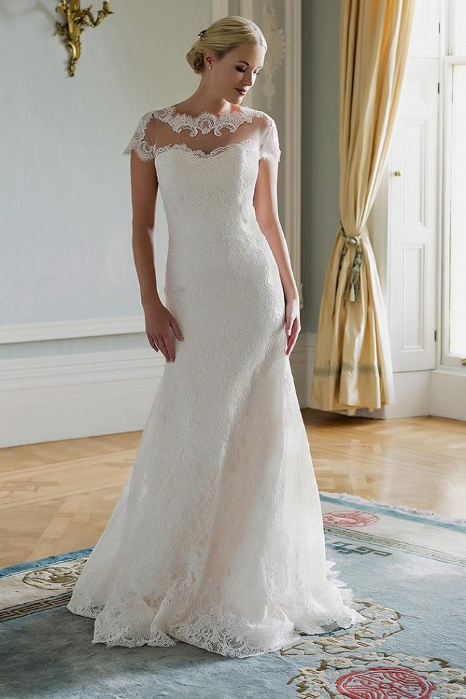 Fit And Flare Wedding Dress - Image 1