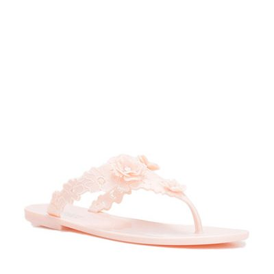 Pink Floral Design Sandals by Badgley Mischka