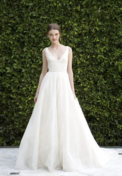 Charming A-Line Wedding Dress by Bliss by Monique Lhuillier